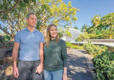 couple walking through the Botanic Gardens at Mt Coot-Tha