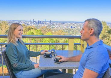 Coffee with a view at Mt Coot-Tha